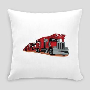 Car Hauler Everyday Pillow
