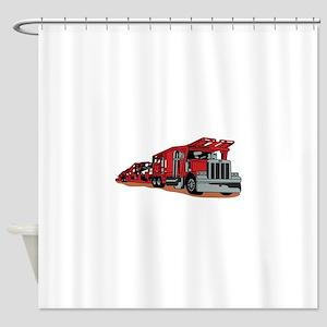 Car Hauler Shower Curtain