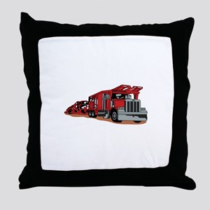 Car Hauler Throw Pillow