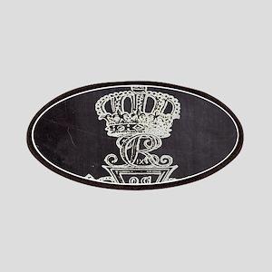 vintage cross royal crown Patch