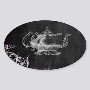 chalkboard tea pot swirl Sticker