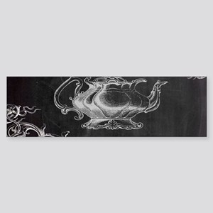 chalkboard tea pot swirls Bumper Sticker