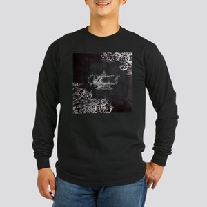chalkboard tea pot swirls Long Sleeve T-Shirt