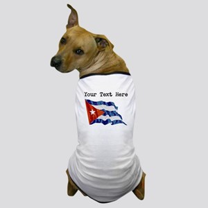 Cuba Flag (Distressed) Dog T-Shirt