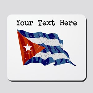 Cuba Flag (Distressed) Mousepad