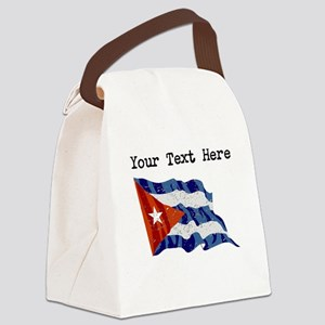 Cuba Flag (Distressed) Canvas Lunch Bag