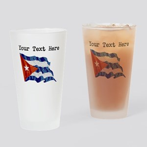 Cuba Flag (Distressed) Drinking Glass