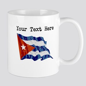 Cuba Flag (Distressed) Mugs