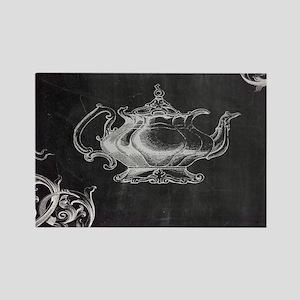 chalkboard tea pot swirls Magnets