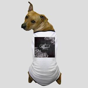 chalkboard tea pot swirls Dog T-Shirt