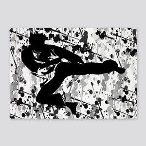 Martial Artist Student 5'x7'Area Rug