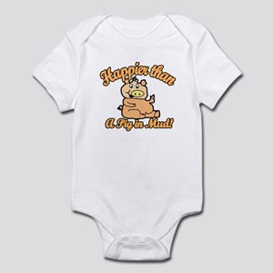 Happier than a pig in mud Infant Bodysuit