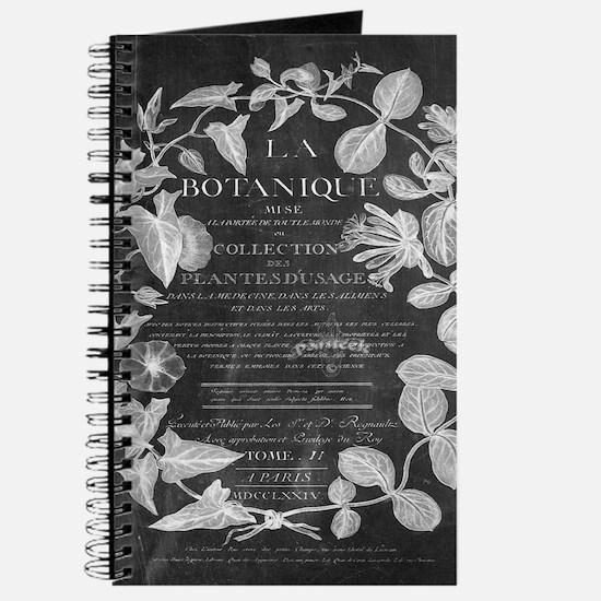 vintage chic botanical leaves Journal