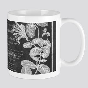 vintage chic botanical leaves Mugs