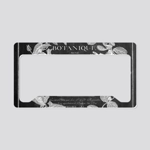 vintage chic botanical leaves License Plate Holder
