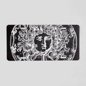 chalkboard vintage medusa Aluminum License Plate