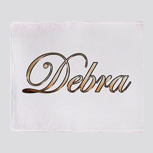 Gold Debra Throw Blanket