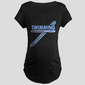 Swim Dad Maternity Dark T-Shirt