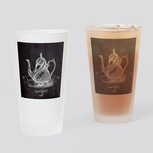 shabby chic teapot Drinking Glass