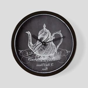 shabby chic teapot Wall Clock