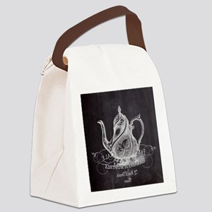shabby chic teapot Canvas Lunch Bag