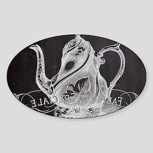 shabby chic teapot Sticker