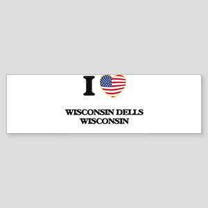 I love Wisconsin Dells Wisconsin Bumper Sticker