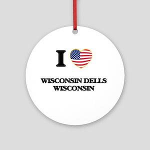 I love Wisconsin Dells Wisconsin Ornament (Round)