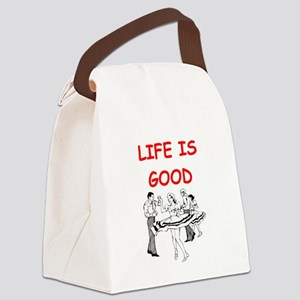 line and square dancing Canvas Lunch Bag