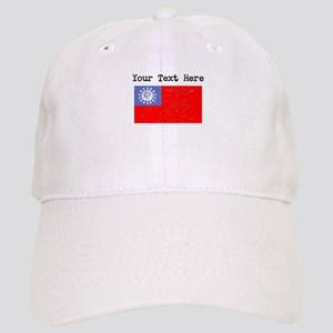 Burma Flag (Distressed) Baseball Cap