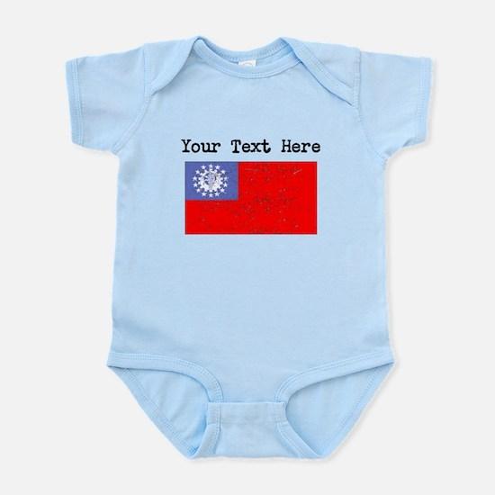 Burma Flag (Distressed) Body Suit