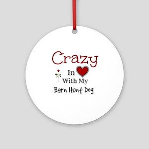 Barn Hunt Dog Ornament (Round)