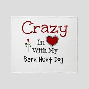 Barn Hunt Dog Throw Blanket