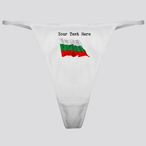 Bulgaria Flag (Distressed) Classic Thong