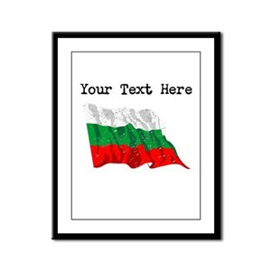 Bulgaria Flag (Distressed) Framed Panel Print