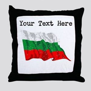 Bulgaria Flag (Distressed) Throw Pillow