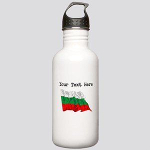 Bulgaria Flag (Distressed) Water Bottle