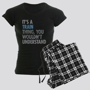 Train Thing Women's Dark Pajamas