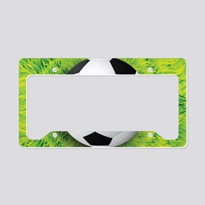 Ball On Grass License Plate Holder