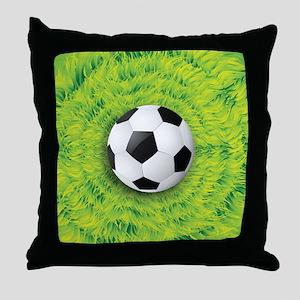 Ball On Grass Throw Pillow