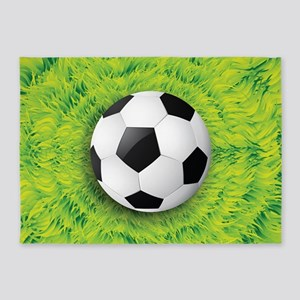 Ball On Grass 5'x7'Area Rug