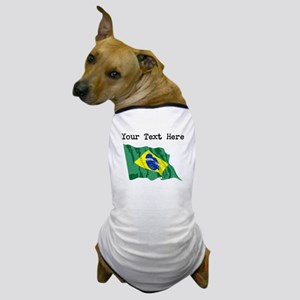 Brazil Flag (Distressed) Dog T-Shirt