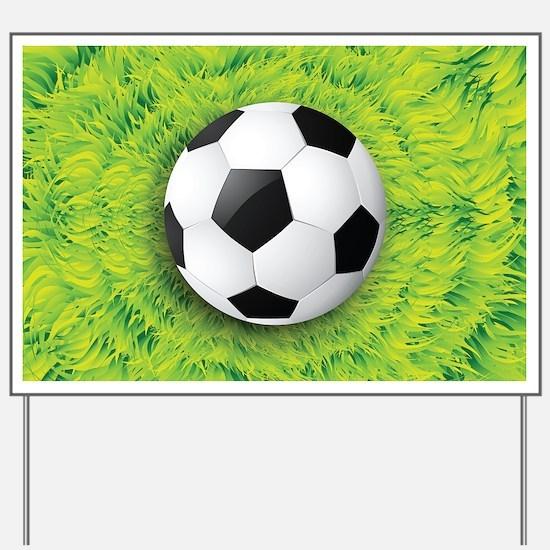Ball On Grass Yard Sign