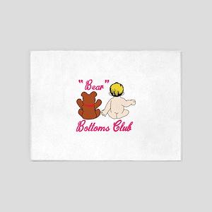 Bear Bottoms Club 5'x7'Area Rug