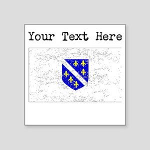 Bosnia Herzegovina Flag (Distressed) Sticker