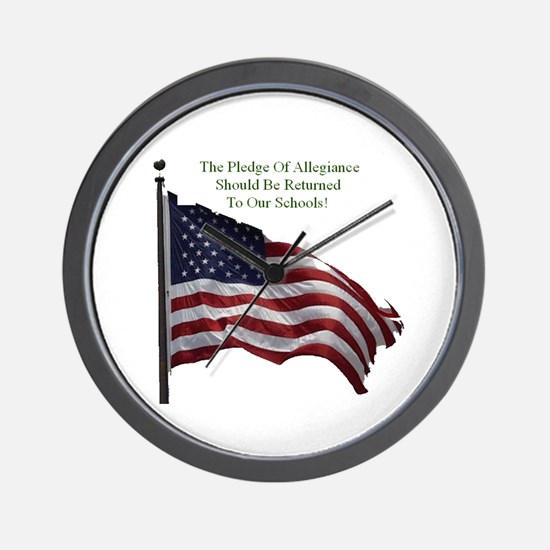 Pledge Of Allegiance Wall Clock