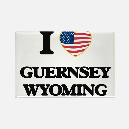 I love Guernsey Wyoming Magnets