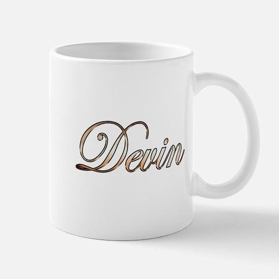Gold Devin Mugs