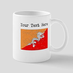 Bhutan Flag (Distressed) Mugs
