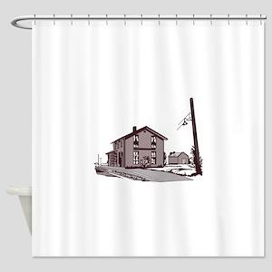 Railroad Depot Shower Curtain